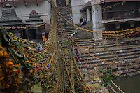 November 22, 2014 - Kathmandu (Nepal). View of the Pashupatinath Temple in Kathmandu, where many locals perform the cremation of their loved ones.  © Thomas Cristofoletti / Ruom