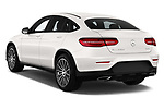 Car pictures of rear three quarter view of a 2018 Mercedes Benz GLC Coupe base 5 Door SUV angular rear
