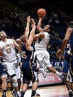 Jorge Gutierrez of California shoots the ball during the game against San Diego at Haas Pavilion in Berkeley, California on November 1st, 2011.  California defeated San Diego, 88-53.
