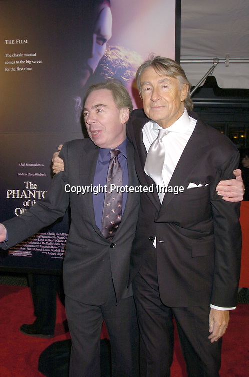"Joel Schumacher and Andrew Lloyd Webber..at The New York Premiere of ""Phantom of the Opera"" on ..December 12, 2004 at the Ziegfeld Theatre. ..Photo by Robin Platzer, Twin Images"