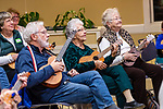 WOODBURY, CT. 03 January 2020-010320BS273 - People of all ages come out to play their ukulele's, as the Woodbury Ukulele Band kicks off another season with a jam session at the Woodbury Senior Center on Friday. Bill Shettle Republican-American