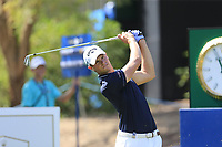 Thomas Detry (BEL) on the 13th during the 1st round of the DP World Tour Championship, Jumeirah Golf Estates, Dubai, United Arab Emirates. 15/11/2018<br /> Picture: Golffile | Fran Caffrey<br /> <br /> <br /> All photo usage must carry mandatory copyright credit (&copy; Golffile | Fran Caffrey)