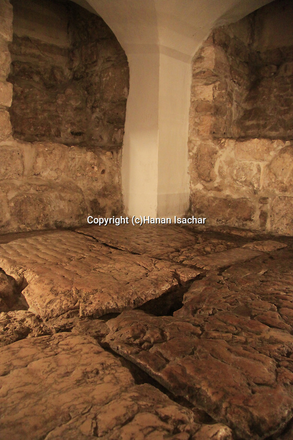 Israel, Jerusalem Old City, the Lithostrotos, a Roman pavement beneath the Ecce Homo Church at the Via Dolorosa