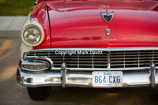 Classic Ford Fairlane on display at the Indianola Classic Car and Truck Show and Shine.