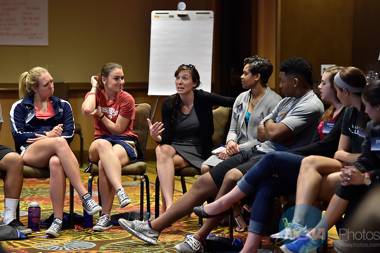 10 APR 2015: The 2015 Leadership Forum is held at the Hyatt Regency Orlando in Orlando, FL. Justin Tafoya/NCAA Photos