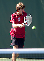 Roy Lederman with the Stanford Men's Tennis Team. Photo taken on Monday, September 23, 2013.