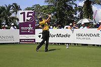Daiel Chopra (SWE) tees off on the 15th tee during Sundays Final Round 3 of the 54 hole Iskandar Johor Open 2011 at the Horizon Hills Golf Resort Johor, Malaysia, 19th November 2011 (Photo Eoin Clarke/www.golffile.ie)