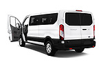 Car images close up view of a 2019 Ford Transit Wagon 350 XLT Wagon Low Roof 60/40 Pass. 148WB 5 Door Passenger Van doors