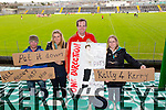 Supporters of Kerry player Patrick Kelly, Barry Lipper, Claire Monaghan, Ciara Siri and Michael Horgan at the  Allianz Hurling League Kerry Vs Derry at Austin Stack Park on Sunday