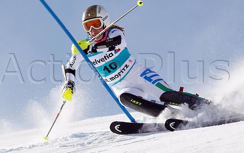 29.01.2012.  Ski Alpine FIS WC St Moritz Super Combination women  Ski Alpine FIS World Cup Super combination for women Slalom Picture shows Camilla Borsotti ITA