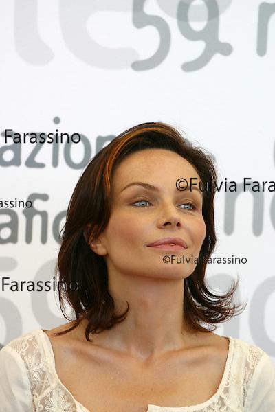 Mostra Internazionale d'Arte Cinematografica di Venezia, Venice International Film Festival. 29 agosto 2002. Francesca Neri