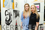 Kerry College of Further Education Art, Craft and Design Exhibition. showcasing Post Leaving Certificate QQI Level 5 Art, Craft and Design students work on Thursday. Pictured Alisha Buckley and Eve Roche