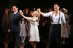 Michael Cerveris & Elena Roger & Ricky Martin with the Company.during the Broadway Opening Night Performance Curtain Call for 'EVITA' at the Marquis Theatre in New York City on 4/5/2012