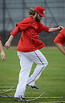 VIERA, FL-  FEBRUARY 26:  Jayson Werth of the Washington Nationals runs through footwork drills during the Washington Nationals Spring Training at Space Coast Stadium in Viera, FL (Photo by Donald Miralle) *** Local Caption ***