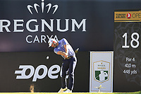 Paul Waring (ENG) tees off the 18th tee during Friday's Round 2 of the 2018 Turkish Airlines Open hosted by Regnum Carya Golf &amp; Spa Resort, Antalya, Turkey. 2nd November 2018.<br /> Picture: Eoin Clarke | Golffile<br /> <br /> <br /> All photos usage must carry mandatory copyright credit (&copy; Golffile | Eoin Clarke)