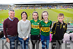 Hugh O'Connor, Jacinta O'Connor and Niamh O'Connor (Castleisland) with Laura O'Connell (Scart) and Connie O'Connor (Castleisland) enjoying the Munster Final held at Fitzgerald Stadium, Killarney on Sunday last.