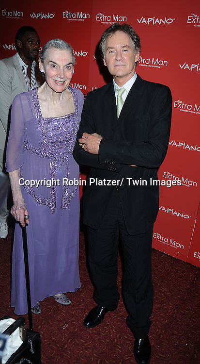 "Marion Seldes and Kevin Kline arriving at The New York Premiere of "" The Extra Man"" on July 19, 2010 at the Village East Cinema in New York City."