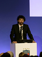 Damiano Tommasi, uno dei tre candidati, parla durante l'Assemblea per l'elezione del nuovo Presidente della Federazione Italiana Giuoco Calcio (FIGC) a Roma, 29 gennaio 2018.<br /> Damiano Tommasi, one of the three candidates, speaks during the election for the Italian Football Federation (FIGC) presidency in Rome, Italy, January 29, 2018. <br /> UPDATE IMAGES PRESS/Isabella Bonotto