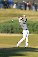 Luke Donald (SCO) on the 11th fairway during Round 2 of the 2015 Alfred Dunhill Links Championship at Kingsbarns in Scotland on 2/10/15.<br /> Picture: Thos Caffrey | Golffile