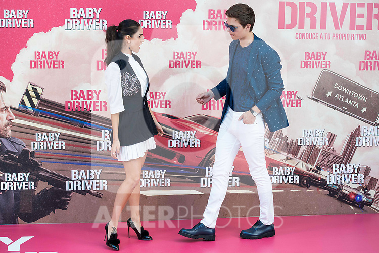 Mexican actress Eiza Gonz&aacute;lez and american actor Ansel Elgort attends to the presentation of the film 'Baby Driver' at Villa Magna Hotel in Madrid, June 23, 2017. Spain.<br /> (ALTERPHOTOS/BorjaB.Hojas)