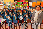 Students from Loughfrouder NS who have beeb shortlisted to play at the Bord Gáis Energy Theatre Awards on March 4th, pictured here last Monday with Mrs Elizabeth Lane.