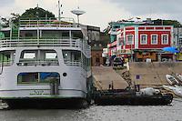 Rio Amazonas,estreito de Óbidos, porto da cidade.<br /> Obidos, Pará, Brasil.Foto Paulo Santos<br /> 29/09/2016