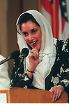 Former Pakistani Prime Minister Benazir Bhutto