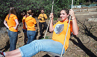 Solano Canyon Community Garden, which is directly over the 110 freeway in Los Angeles.<br />