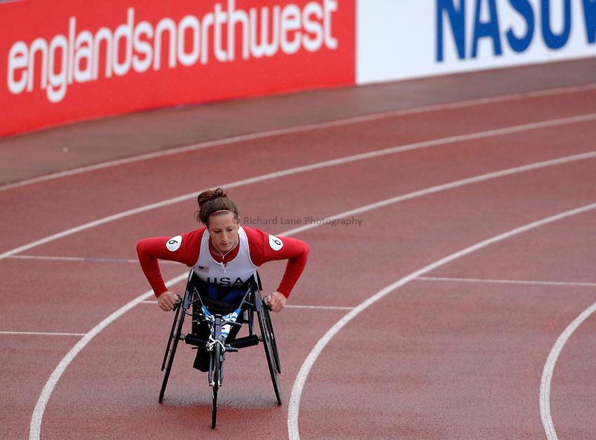 Photo: Richard Lane..VISA Paralympic World Cup 2007. Athletics. 13/05/2007. .Tatyana McFadden of USA in the women's T54 400m.
