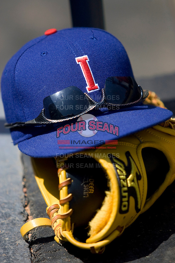 Iowa Cubs hat on April 10th, 2011 at Dell Diamond in Round Rock, Texas.  (Photo by Andrew Woolley / Four Seam Images)