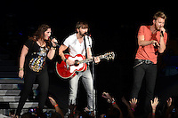 WEST PALM BEACH - MAY 12: (L-R) Hillary Scott, Dave Haywood and Charles Kelley of Lady Antebellum  perform at the Cruzan Amphitheatre on May 12, 2012 in West Palm Beach, Florida. © mpi04/MediaPunch Inc