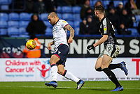 Bolton Wanderers' Josh Magennis breaks away from  Reading's Matt Miazga  <br /> <br /> Photographer Andrew Kearns/CameraSport<br /> <br /> The EFL Sky Bet Championship - Bolton Wanderers v Reading - Tuesday 29th January 2019 - University of Bolton Stadium - Bolton<br /> <br /> World Copyright © 2019 CameraSport. All rights reserved. 43 Linden Ave. Countesthorpe. Leicester. England. LE8 5PG - Tel: +44 (0) 116 277 4147 - admin@camerasport.com - www.camerasport.com