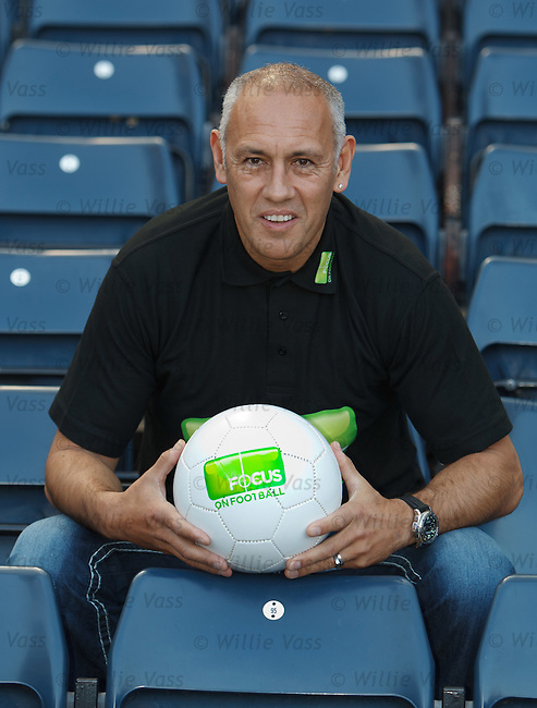 Old Firm star Mark Hateley with the Focus on Football initiative at Hampden