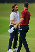 Tommy Fleetwood (ENG) and Justin Rose (ENG) on the 9th during the 1st round at the WGC HSBC Champions 2018, Sheshan Golf Club, Shanghai, China. 25/10/2018.<br /> Picture Fran Caffrey / Golffile.ie<br /> <br /> All photo usage must carry mandatory copyright credit (&copy; Golffile | Fran Caffrey)