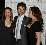 "Kara Lindsay ""Laura Ingall"", Kevin Masse ""Almanzo Wilder"" and  Melissa Gilbert ""Ma Ingall"" star in Little House on the Prairie - The Musical at the Paper Mill Playhouse's 71st Season as it opens with East Coast Premiere on September 20, 2009 in Millburn, New Jersey. (Photo by Sue Coflin/Max Photos)"