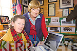 ONLINE: Ryna O'Shea and Barbara O'Shea Cassidy checking out the new web page for the Ballinskelligs area on Friday last.
