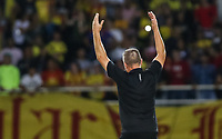 PEREIRA - COLOMBIA, 10-06-2019: Nestor Craviotto técnico de Pereira celebra como campeón del Torneo Águila 2019 I después del partido entre Deportivo Pereira y Cortuluá por la final vuelta jugado en el estadio Hernán Ramírez Villegas de la ciudad de Pereira. / Nestor Craviotto coach of Pereira celebrates as champion of the Aguila Tournament 2019 I after second leg final match between Deportivo Pereira and Cotulua played at the Hernan Ramirez Villegas stadium in Pereira city.  Photo: VizzorImage/ Juan Torres / Cont