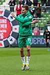 10.02.2019, Weserstadion, Bremen, GER, 1.FBL, Werder Bremen vs FC Augsburg<br /><br />DFL REGULATIONS PROHIBIT ANY USE OF PHOTOGRAPHS AS IMAGE SEQUENCES AND/OR QUASI-VIDEO.<br /><br />im Bild / picture shows<br />Sebastian Langkamp (Werder Bremen #15) beim Aufwärmen vor dem Spiel, <br /><br />Foto © nordphoto / Ewert