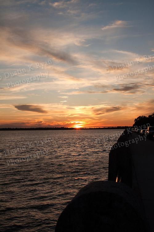Charleston Battery Sunset South Carolina
