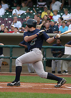 August 30, 2003:  Jeff Eure of the Beloit Snappers, Class-A affiliate of the Milwaukee Brewers, during a Midwest League game at Fifth Third Field in Dayton, OH.  Photo by:  Mike Janes/Four Seam Images