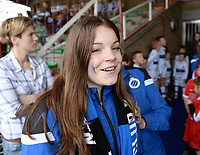 20180414 - AALTER , BELGIUM : Brugge's Sara Bakar pictured during the 21st matchday in the 2e Nationale Women's league , a womensoccer game between Club Brugge Dames and GFA Sinaai , in Aalter , saturday 15 th April 2018 . PHOTO SPORTPIX.BE | DAVID CATRY