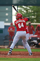 Cincinnati Reds Francis Guerrero (64) during an instructional league game against the Cleveland Indians on October 17, 2015 at the Goodyear Ballpark Complex in Goodyear, Arizona.  (Mike Janes/Four Seam Images)