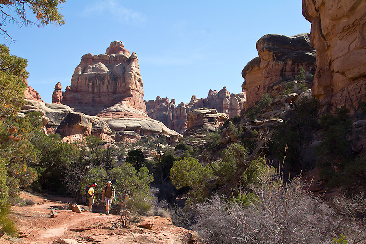 Canyonlands National Park, Utah, Backpacking, Chesler Park Trail, Elephant Canyon, the Needles District, Gary Parker, Scott McCredie, Southwest, United States, USA,
