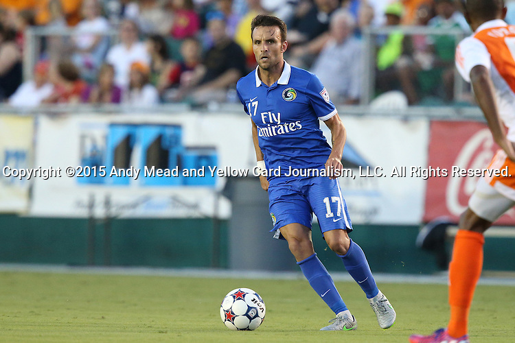 22 August 2015: New York's Ayoze Garcia (ESP). The Carolina RailHawks hosted the New York Cosmos at WakeMed Stadium in Cary, North Carolina in a North American Soccer League 2015 Fall Season match. Cosmos won the game 3-1.