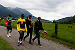 Cameroonian forward player Samuel Eto'o trains during the FIFA World Cup 2014 CAMEROON'S training camp, in Walchsee on May 28 2014. <br /> &copy; Pierre Teyssot