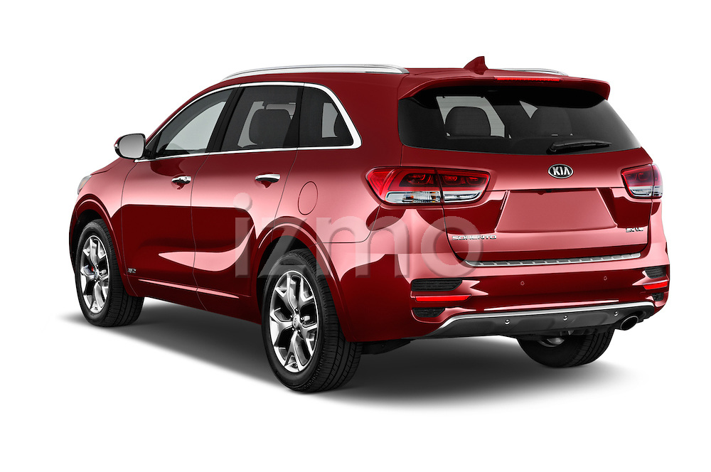 Car pictures of rear three quarter view of a 2016 KIA Sorento SX AT 5 Door SUV Angular Rear