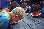 Watermelon eating contest at the Great Day in Elk, Elk California