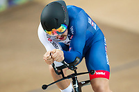 Picture by Alex Whitehead/SWpix.com - 24/03/2018 - Cycling - 2018 UCI Para-Cycling Track World Championships - Rio de Janeiro Municipal Velodrome, Barra da Tijuca, Brazil - Blaine Hunt of Great Britain competes in the Men's C5 Individual Pursuit qualifying.