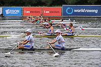 Amsterdam, NETHERLANDS, GBR BLM2X,  2011 FISA U23 World Rowing Championships, Wednesday, 20/07/2011 [Mandatory credit:  Intersport Images]