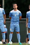 28 August 2016: North Carolina's Alex Comsia (CAN). The University of North Carolina Tar Heels hosted the Saint Louis University Billikens at Fetter Field in Chapel Hill, North Carolina in a 2016 NCAA Division I Men's Soccer match. UNC won the game 3-0.